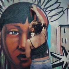 #Graffiti #Art #Pearl #Painting #Girl #Brazil