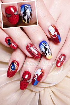 urania-asia spiderman #nail #nails #nailart