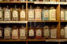 Old fashioned sweet jars