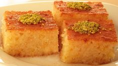 Desserts are the showcase of Turkish cuisine. Turkish cuisine is has a very wide range of desserts from puddings to sophisticated phyllo dough works even Arabic Dessert, Arabic Sweets, Arabic Food, Turkish Restaurant, Turkish Sweets, Semolina Cake, Phyllo Dough, Cookie Do, Pumpkin Dessert
