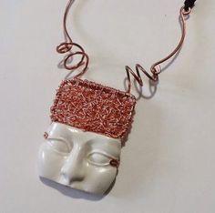 """ARIETE"" Collana di rame & polymer clay"