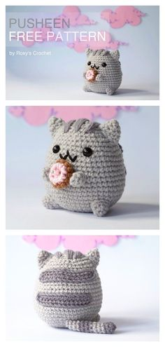 Looking for an adorable pudgy kitty to keep you company? This Amigurumi Pusheen Cat Free Crochet Pattern would be one of the best choices. Crochet Cat Pattern, Crochet Motifs, Crochet Amigurumi Free Patterns, Crochet Animal Patterns, Crochet Blanket Patterns, Crochet Cat Hats, Quick Crochet, Free Crochet, Kawaii Crochet