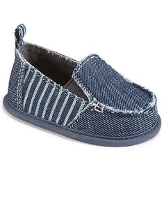 First Impressions Baby Boys' Slip-On Denim Shoes - Kids Kids' Shoes - Macy's