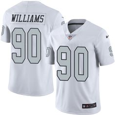 Men s Nike Oakland Raiders  66 Gabe Jackson Elite White Rush NFL Jersey Nfl  Shop 748c00e5e