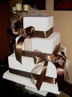 Square Wedding Cake Bling Surrey Bc By Sugarfix1 Via Flickr