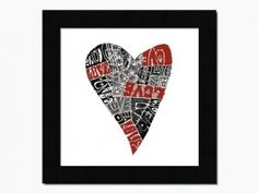 Lots of Love Heart wall art. Valentine's Day gift idea.