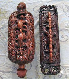 Maori Artist Iwi Le comte #wakahuia #papahou #maoricarving