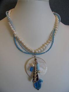 White Freshwater Pearl Triple Strand by ROOTSJewelryDesign on Etsy, $75.00