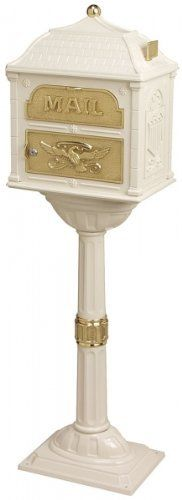 Gaines The Classic Mailbox ClAlm, Almond + Polished Brass by Gaines. $527.79. The Classic Mailbox, unlike most, includes the post.. Sixteen separate castings of areospace-grade aluminum and accented with solid brass or aluminum.. Lockable front access door.. Accents in solid Polished Brass, Antique Bronze finished Brass, and Satin Nickel (aluminum).. Mailboxes and Posts are hand assembled and hand fitted.. Gaines The Classic Mailbox ClAlm, Almond + Polished Brass - Gaine...