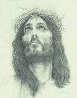 Crown of Thorns by Cannon. Touching sketch of Jesus with thorns. Much nicer than pic shows. Images Of Christ, Pictures Of Jesus Christ, Jesus Faith, Jesus Is Lord, Holy Week Images, Drawing Sketches, Drawings, Sketching, Jesus Sketch