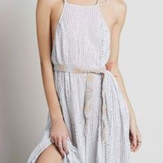 Free people easy breezy belt Brand new with tag - muted coral and gray color woven belt Free People Accessories Belts