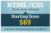 HTML/CSS conversion  - web banner