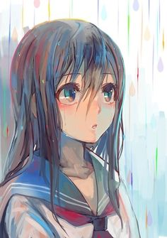 Imagem de anime, girl, and rain