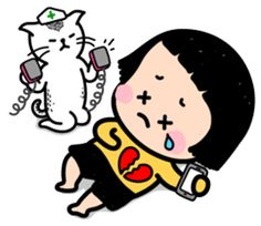 MiM, a girl that cannot go a second without her cell phone, she is finally on LINE!