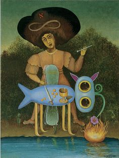 By Victor Brauner, 1/1 9 4 7, The Surrealist (Le surréaliste), Oil on canvas, The Solomon R. Guggenheim Foundation Peggy Guggenheim Collection, Venice.