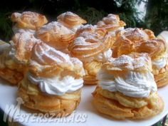 Hungarian Desserts, Waffles, Muffin, Food And Drink, Cooking Recipes, Favorite Recipes, Sweets, Cookies, Cream