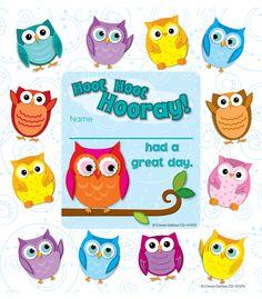 Colorful Owls Framed Awards (CD-101075) #classroom #decor #AILtyler