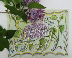 Calligraphy watercolor, Heaven's Breath, 2005, V. Atkinson.