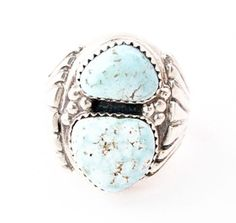 Navajo Sterling Silver Dry Creek Turquoise Ring Size 13 Native American #NativeAmericanIndianJewelry