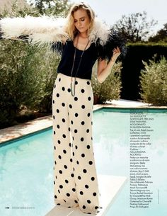 Diane Kruger's Vacation-Perfect Spread For Elle Italia // Photo: Dan Martensen