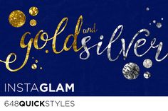 Check out Gold Foil + Silver InstaGlam Styles by Jessica Johnson on Creative Market http://crtv.mk/inXe