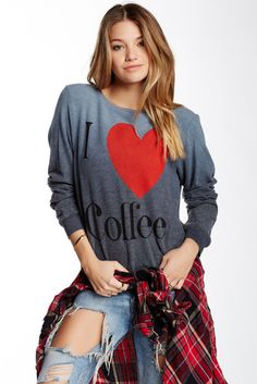 I Love Coffee Sweatshirt Sponsored by Nordstrom Rack.