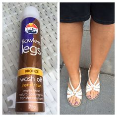 Great instant tan! Natural bronze looking legs in a minute!