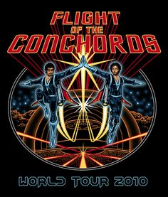 Flight of the Conchords Official Tour T Shirt by Drew Beam, via Behance