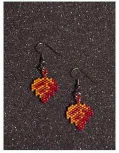 Fall Leaf Earrings by HandMadeBeadedCrafts on Etsy