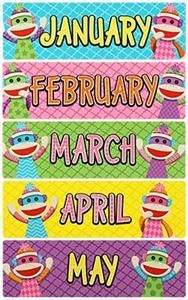 Colorful #SockMonkeys Monthly Headers by Renewing Minds  Monkey see, monkey do your #classroomdecorations right with a Colorful Sock Monkey theme! Let these awesome resources swing you into action this school year with high energy and contagious excitement.   Find every decorating and organizing need for a colorful Sock Monkey makeover.