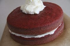 Red Velvet Cake with Cream Cheese Frosting *in the making* {Flavia's Flavors}