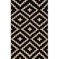 Momeni Laguna Hand-Woven Black Area Rug Rug Size: 8' x 10'
