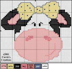 Cross stitch country cow pattern