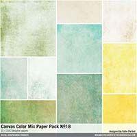 Canvas Color Mix Paper Pack No. 18