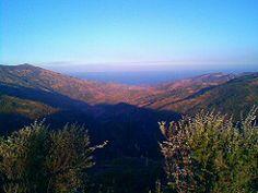 Val d'Agrò (ME) - Il Mar Jonio visto dai Monti Peloritani   da Lorenzo Sturiale