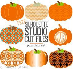 Set of Pumpkins Free Silhouette Studio Cut File ~ Silhouette School