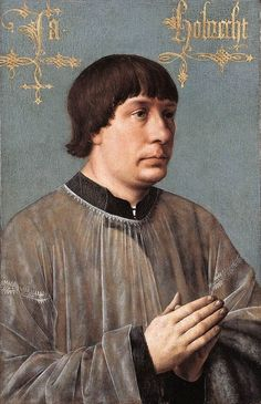 Hans Memling (1430-1494) — Portrait of Portrait of Jacob Obrecht, 1496 : The Kimbell Art Museum in Fort Worth, Texas. USA (581x900)