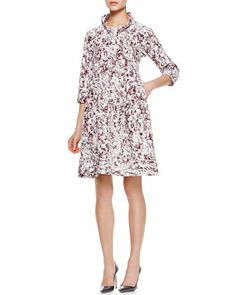 Reason Printed A-Line Dress by Jil Sander at Bergdorf Goodman.