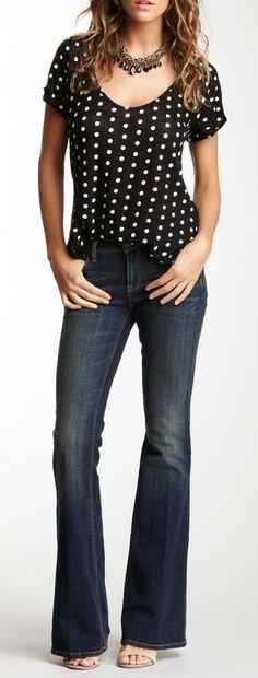 Genetic Denim Fever Mid Rise Bell Bottom Jean