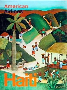 Vintage American Airlines - Haiti. I wanna frame this!