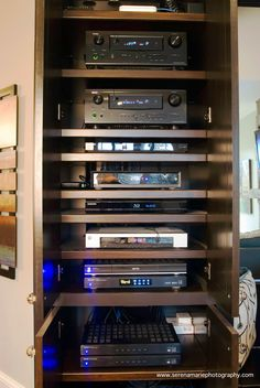 Home Theater Equipment Rack Built Into Wall Home Theater