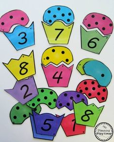 Cupcake Counting Puzzles for kids. Counting Puzzles, Counting Activities, Maths Puzzles, Puzzles For Kids, Hands On Activities, Back To School Worksheets, Kids Math Worksheets, Number Worksheets, Uno Cards
