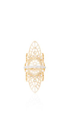18K Pink Gold Lace Ring by Joelle Jewellery for Preorder on Moda Operandi