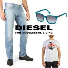 3aab9013c3 Vaqueros, camiseta y gafas de sol by DIESEL para hombre! ENVÍO GRATIS! #