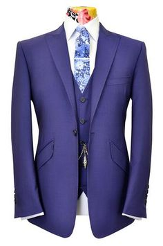 The Ashmore Persian Blue Suit