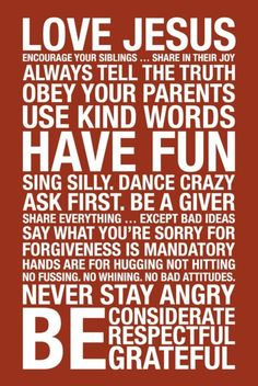 Simple rules worth following.