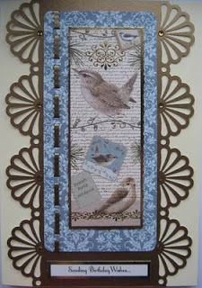 Kanban British Birds paper craft collection - foiled & die cut toppers with co-ordinating card.