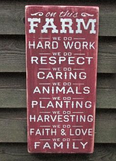 """This rustic looking Farm sign, is hand painted and made of wood, and perfect for your primitive home decor Sign measures 11 1/4 """" X 24"""" It is painted and distressed to give the look of an old sign. it"""