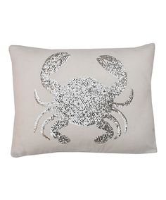 White Sequin Crab Throw Pillow oh I think I need to have this!!! Beachy + sparkly = yay!!