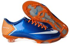 Nike Mercurial Vapor X FG Cleats Blue Orange White